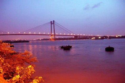 Illuminated Howrah Bridge