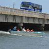 A bridge and boat riding view at Muttukadu lake