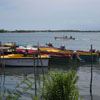 Boats on lake at Muttukadu in Chennai