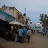 People standing at the front view of Mosque at Kovalam in Chennai