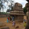 A view of Sahadev and Nakula's ratha in Pancha rathas in Mahabalipuram