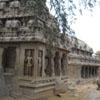 A God's sculpture at Pancha rathas area in Mahabalipuram