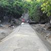 Path way to Mahisha Mardini cave temple in Mahabalipuram