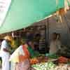 Salesman at vegetable market in Kovilpatti in Thoothukudi district