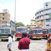 A bus stand view at Nagercoil in Kanyakumari district