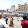 People waiting for bus at Anna Bus Stand at Nagercoil in Kanyakumari district