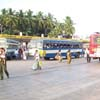 Buses at Christopher bus stand at Vadasery in Nagercoil town
