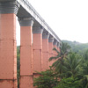 Lined pillars view at Mathur thottipalam near Nagercoil