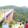 Visitors viewing bottom view from Mathur Bridge near Nagercoil