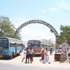 Arch view of Thiyagi Bhagat Singh bus stand at Tiruchendur in Tuticorin district