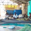 Fish net drying process is going on at Tuticorin district