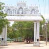 Arch view of Sree Arunachala Swamy kovil at Eral in Tuticorin district