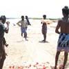 Fishermen preparing the net... Thoothukudi