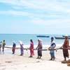 Fishing process at Tuticorin beach