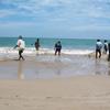 Fishermen's team work at the Tuticorin beach