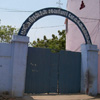 Closed gate view at St.Xavier Higher Secondary School in Tuticorin district