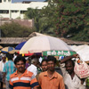 People crowd at Kamarajar market in Thoothukudi