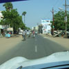 A view of Charles theatre road view from car at Tuticorin district