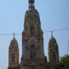 A tower view of Sacred heart Cathedral Chinna kovil  church in Tuticorin district