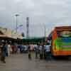 Bus passengers at Sankarankovil bus stand in Tirunelveli district