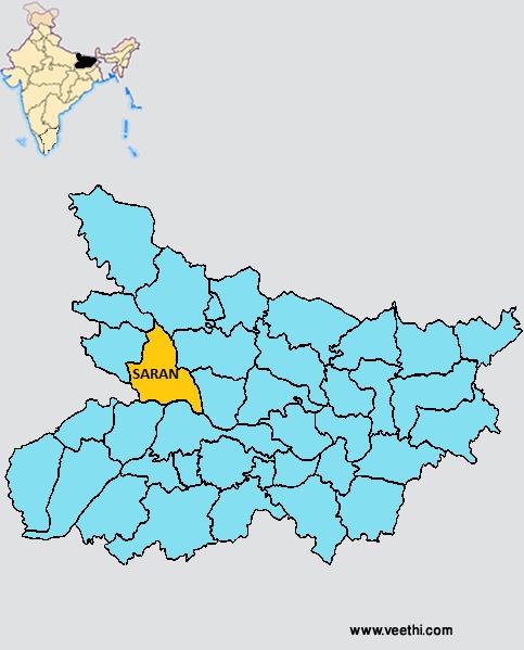 saran district map major rivers ganga ghaghra gandak