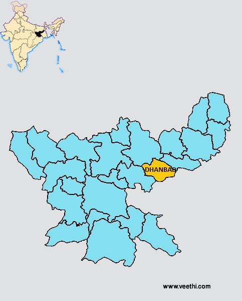 Dhanbad District - Dhanbad map