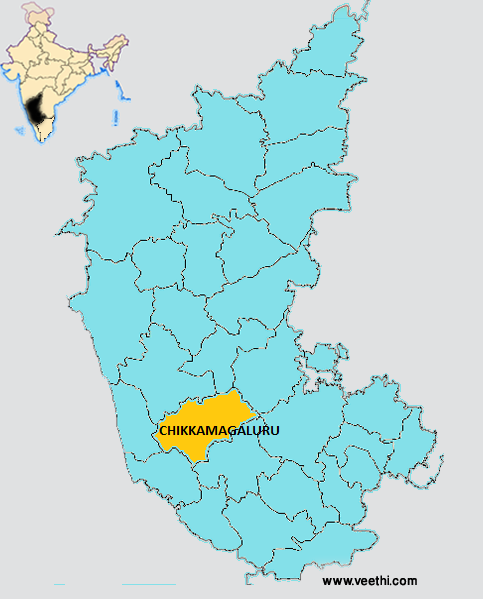 Chikkamagaluru District - Chikmagalur map