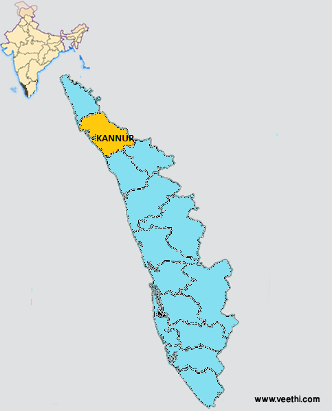 Kannur District - Kannur map