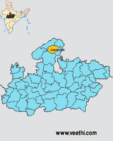 Gwalior India Map Gwalior District Map