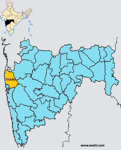 Thane Road Map Images - Solapur map
