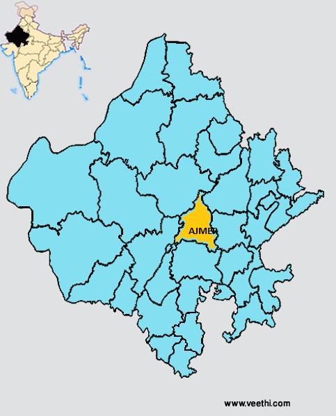 Ajmer District - Beawar map