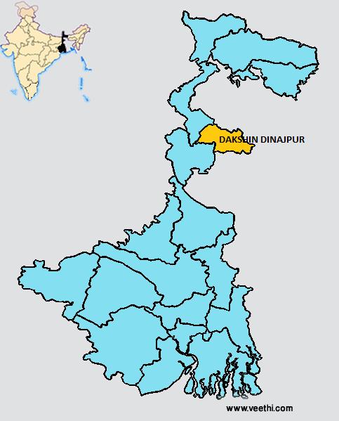 Dakshin Dinajpur District - Balurghat map