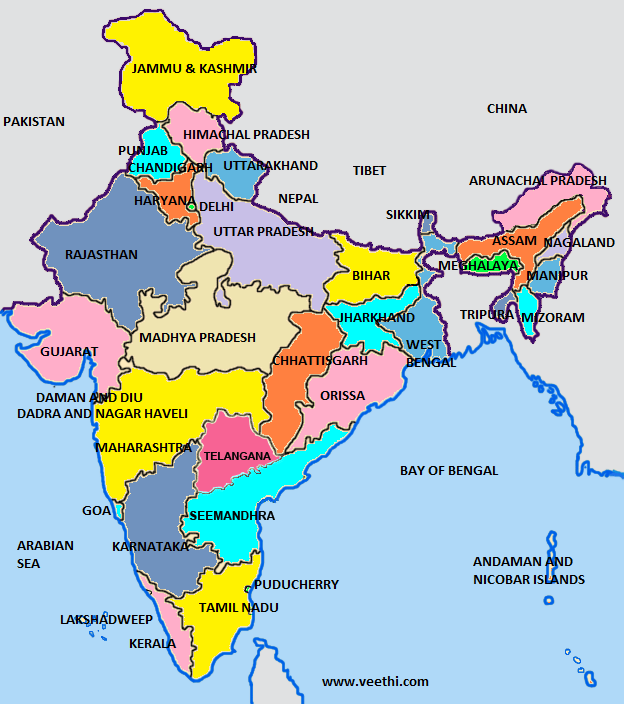 India Map States The India Entertainer How Many States In - Map of the states and capitals