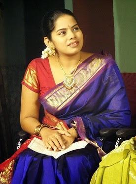 tamil serial actress deepa venkat in saree veethi