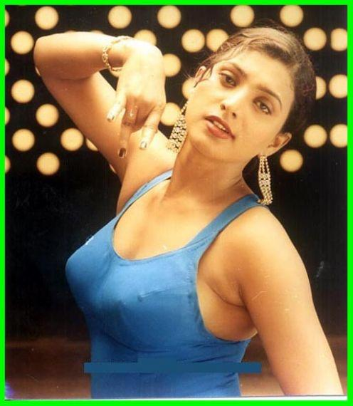 Actress Roja Selvamani Very hot and Sexy in Blue Saree
