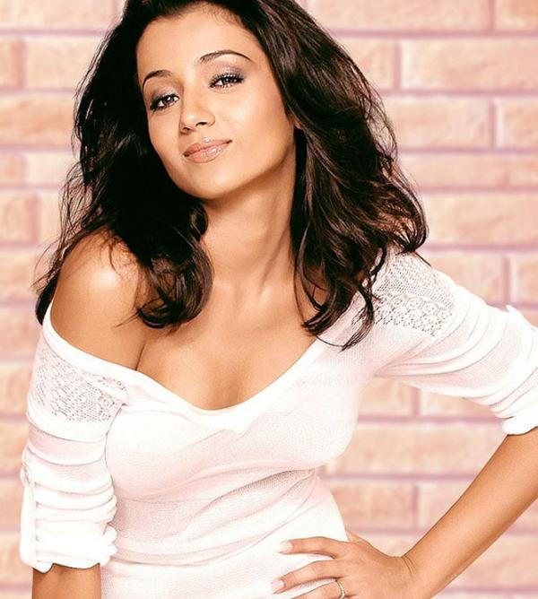 Trisha Hot And Sexy In White Dress