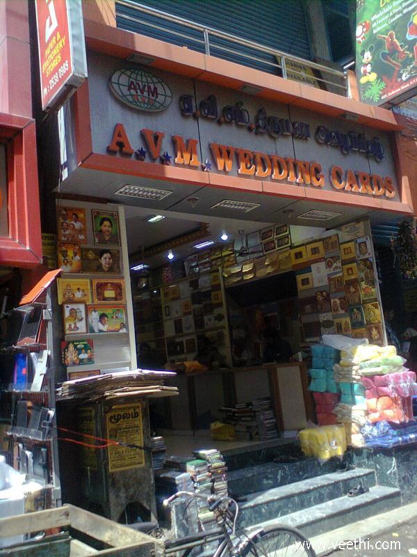 A.V.M Wedding Cards Shop, Parrys | Veethi