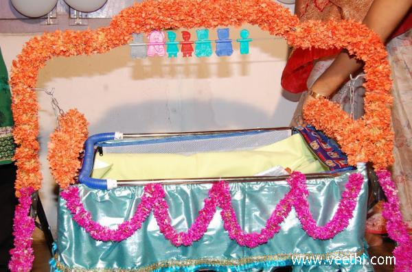 a decorated cradle for baby cradle function veethi