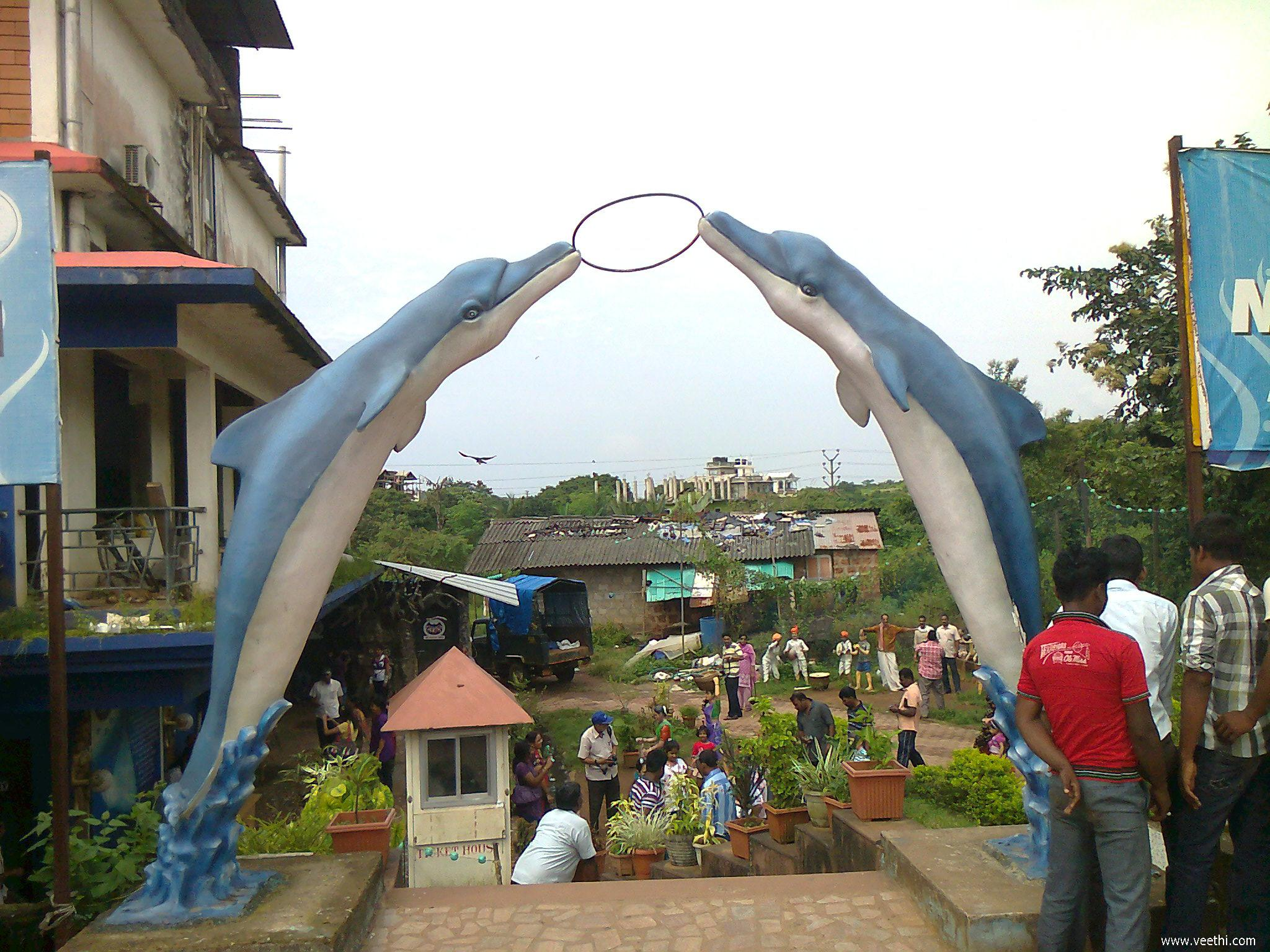 Fish aquarium verna goa - Entrance Of Abyss Marine Fish Aquarium Goa